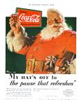 The first Coca-Cola Santa Claus image created by artist Haddon Sunblom appeared in 1931 in The Saturday Evening Post.