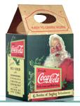 1931 cardboard carton for a six-pack of Coke bottles featuring Santa