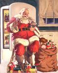 1947 'Hospitality' Coca-Cola Santa Claus original painting