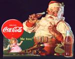 1936 Coca-Cola Santa cardboard store display